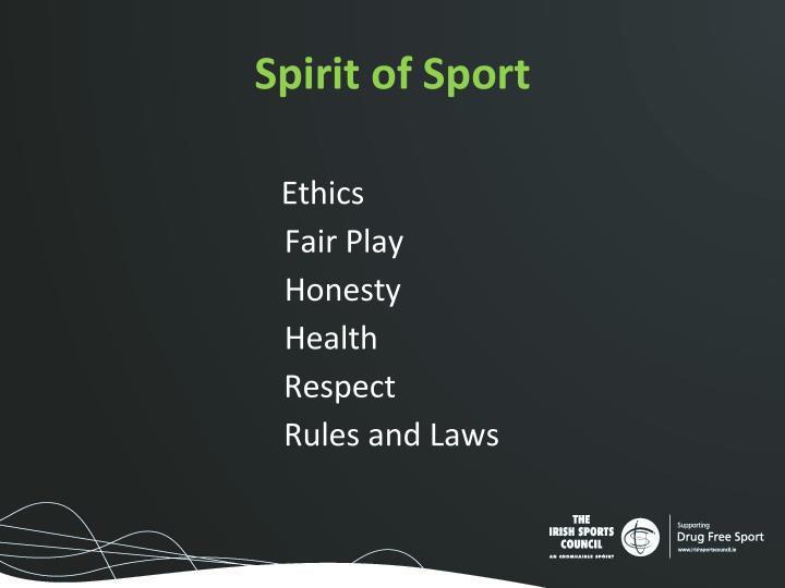 Spirit of Sport