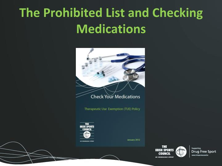 The Prohibited List and Checking Medications