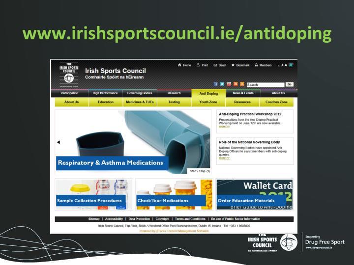 www.irishsportscouncil.ie/antidoping