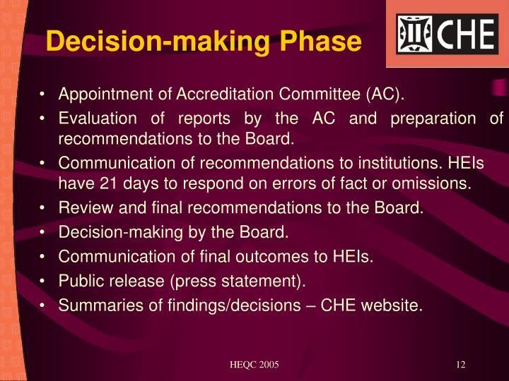 Decision-making Phase