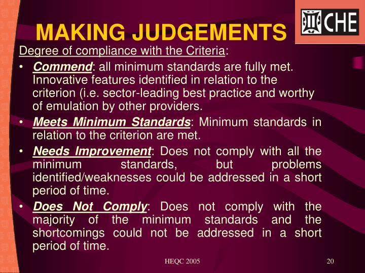 MAKING JUDGEMENTS