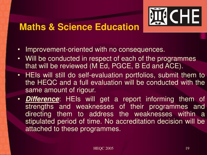 Maths & Science Education