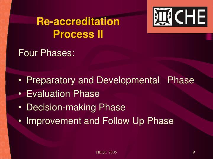 Re-accreditation Process II