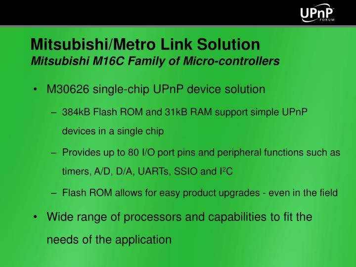 M30626 single-chip UPnP device solution