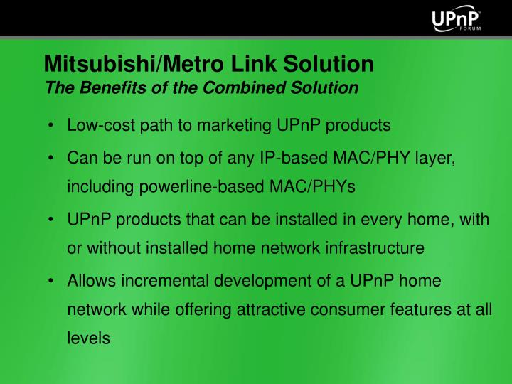 Low-cost path to marketing UPnP products