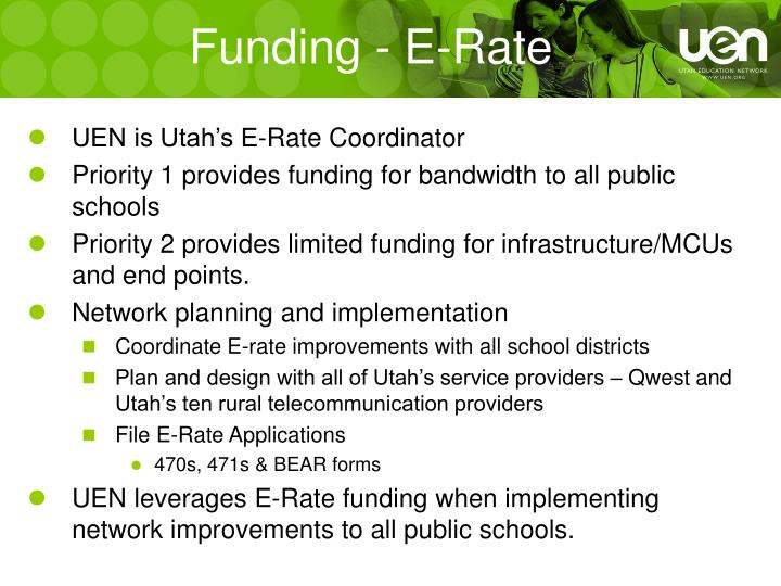 Funding - E-Rate