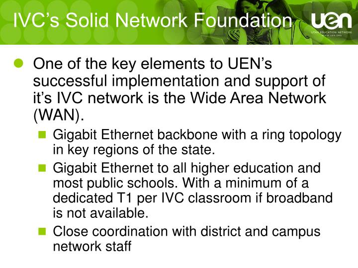 IVC's Solid Network Foundation