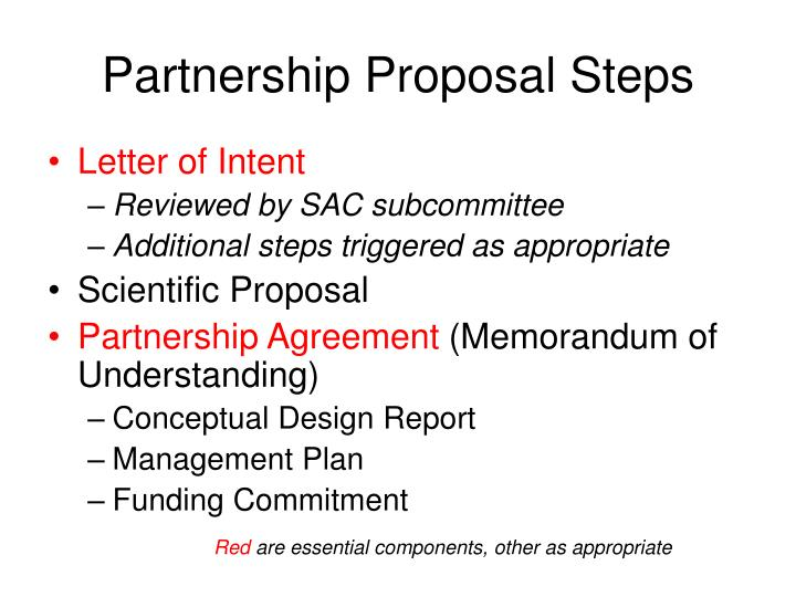 Partnership Proposal Steps