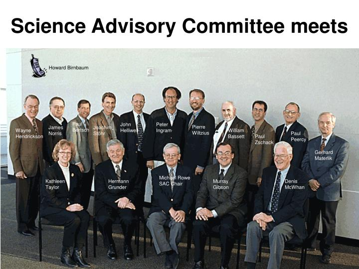 Science advisory committee meets