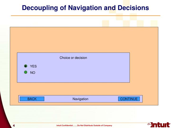 Decoupling of Navigation and Decisions