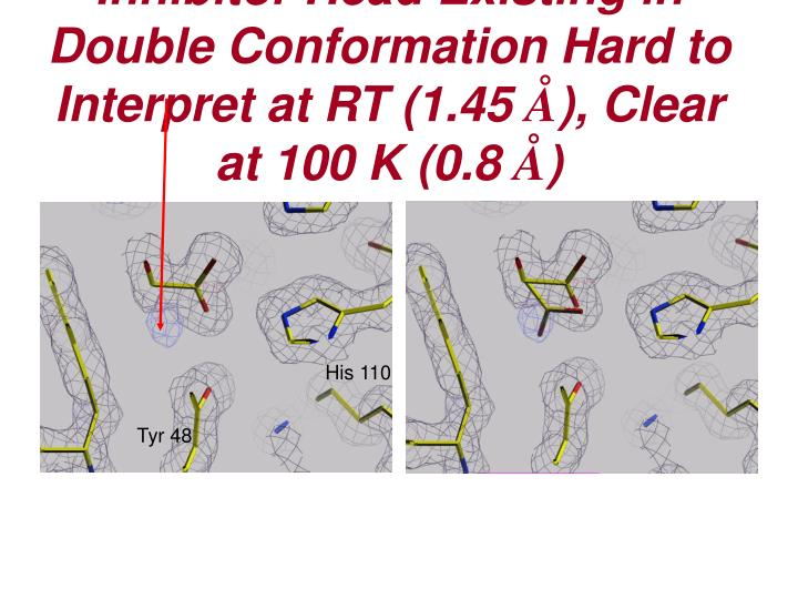 Inhibitor Head Existing in Double Conformation Hard to Interpret at RT (