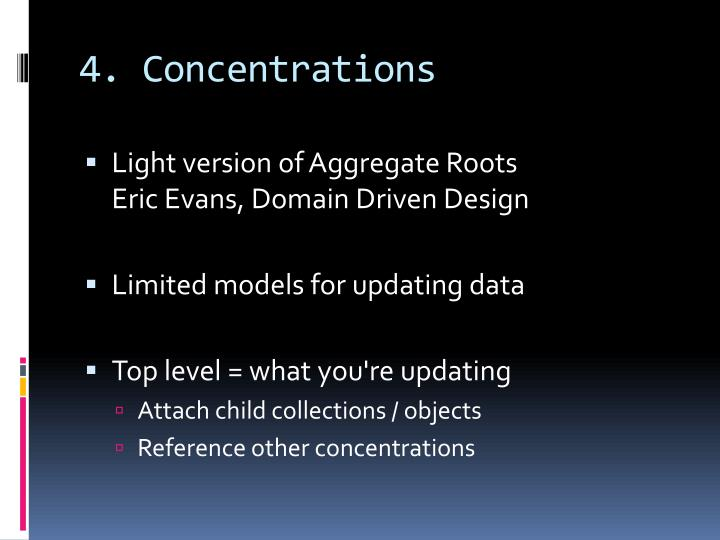 4. Concentrations