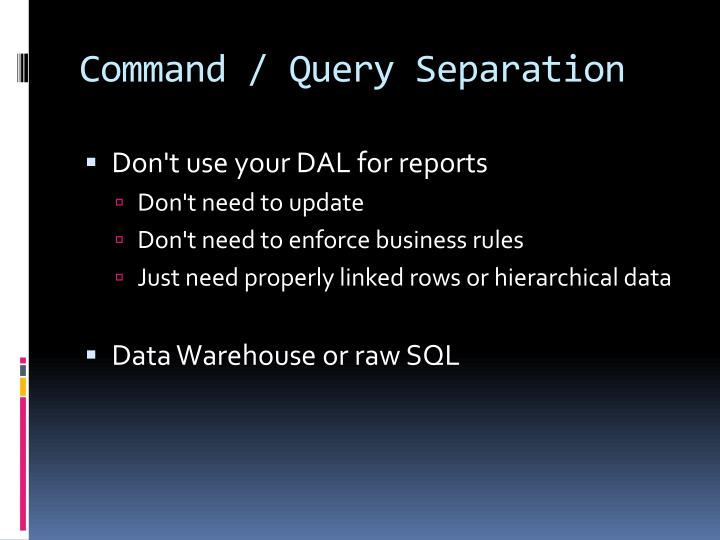 Command / Query Separation