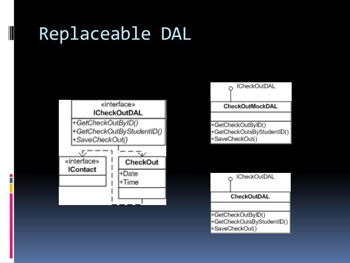 Replaceable DAL