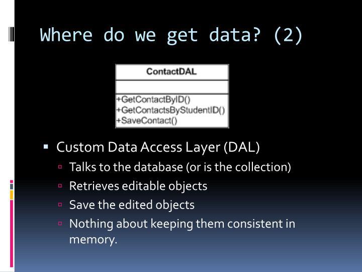 Where do we get data? (2)