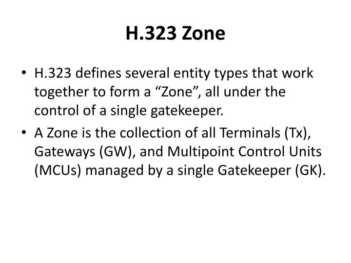 H.323 Zone
