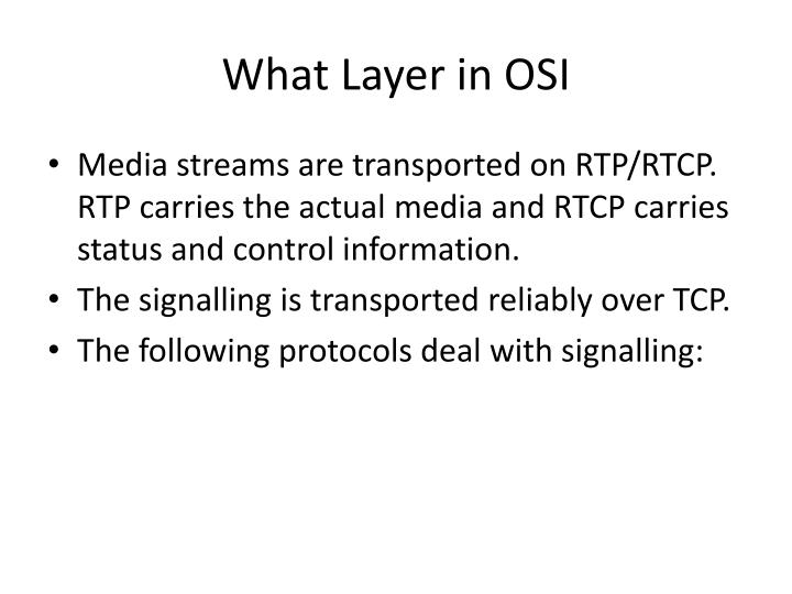 What Layer in OSI