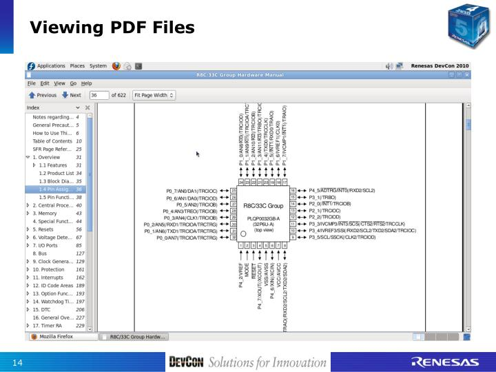 Viewing PDF Files