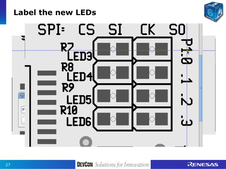 Label the new LEDs