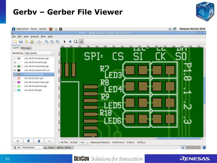 Gerbv – Gerber File Viewer