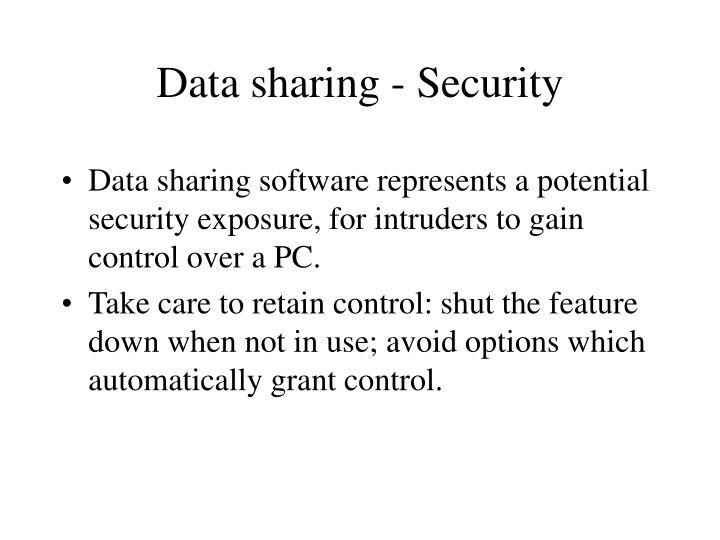 Data sharing - Security