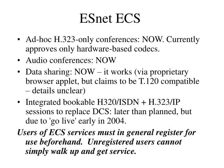 ESnet ECS
