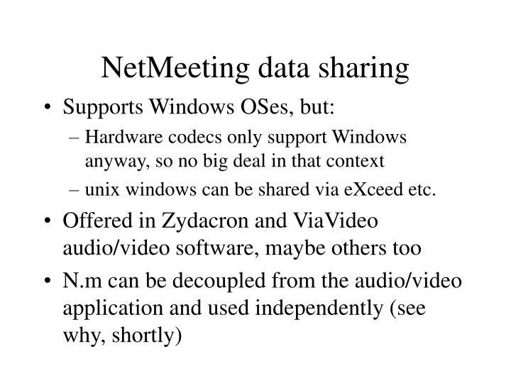 NetMeeting data sharing