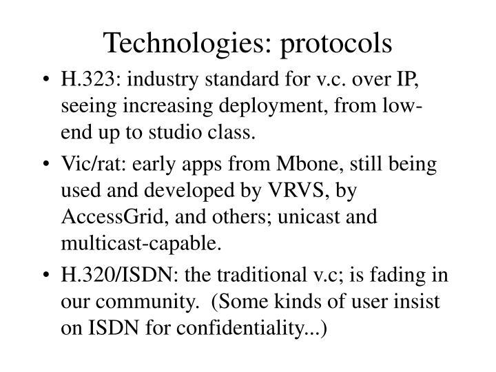 Technologies: protocols