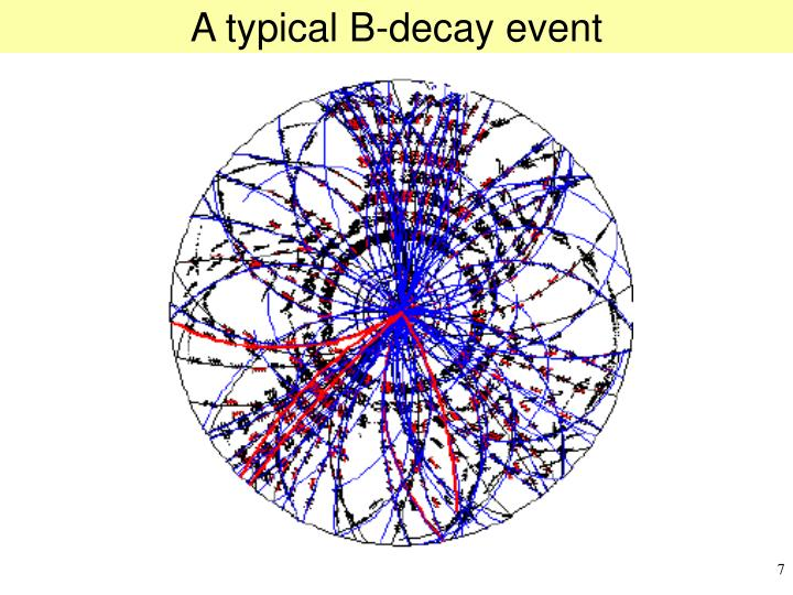 A typical B-decay event