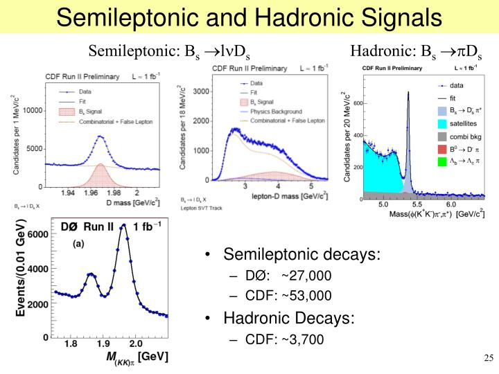Semileptonic and Hadronic Signals