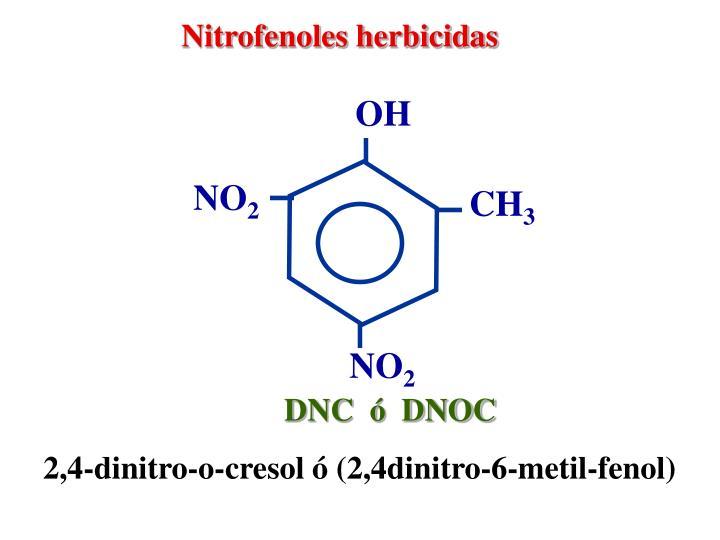 Nitrofenoles herbicidas