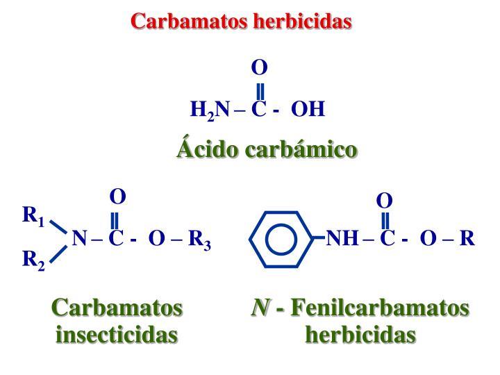 Carbamatos herbicidas