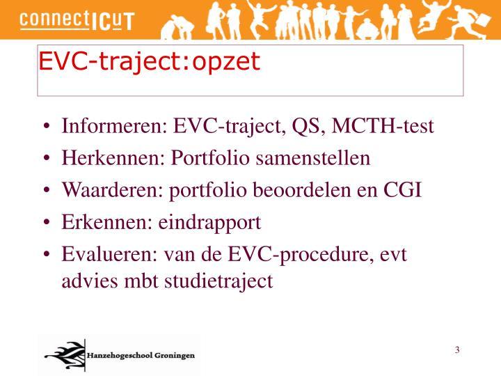 EVC-traject:opzet