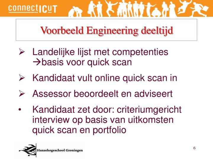 Voorbeeld Engineering deeltijd