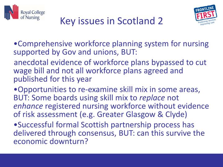 Key issues in Scotland 2