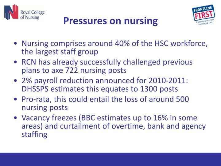 Pressures on nursing