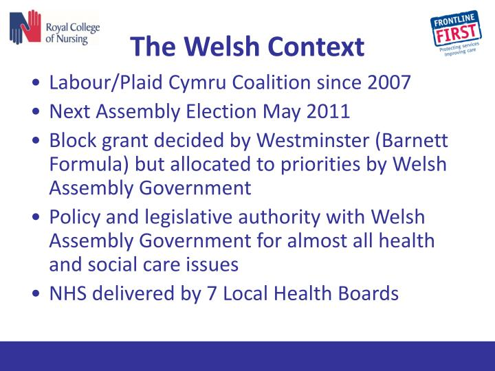 The Welsh Context