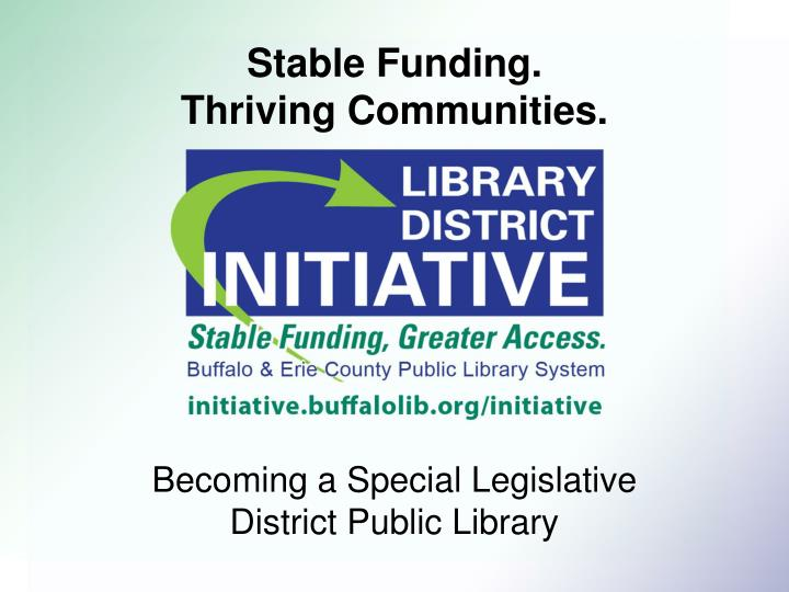 stable funding thriving communities