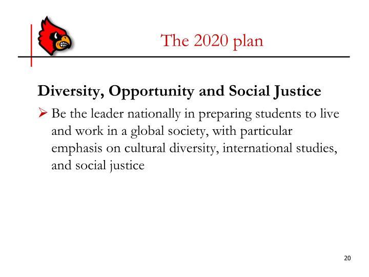The 2020 plan