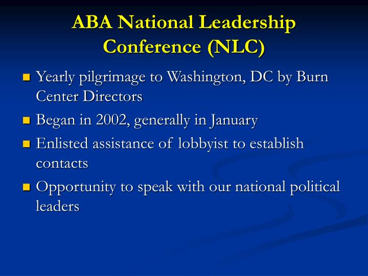 ABA National Leadership Conference (NLC)