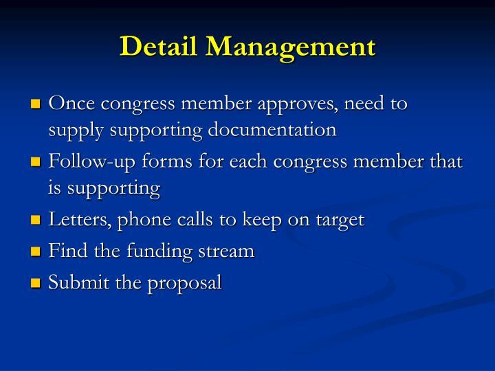 Detail Management