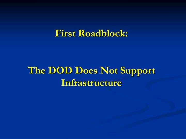 First Roadblock: