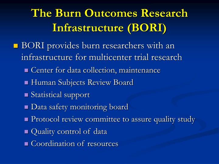 The Burn Outcomes Research Infrastructure (BORI)