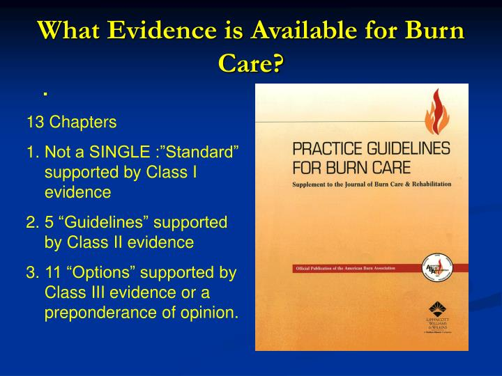 What Evidence is Available for Burn Care?