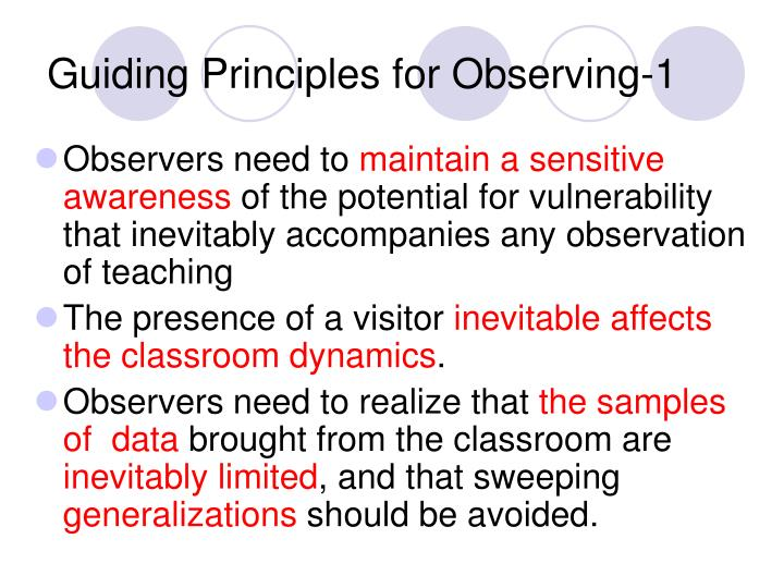 Guiding Principles for Observing-1