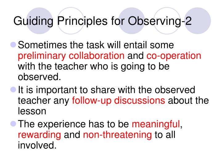 Guiding Principles for Observing-2