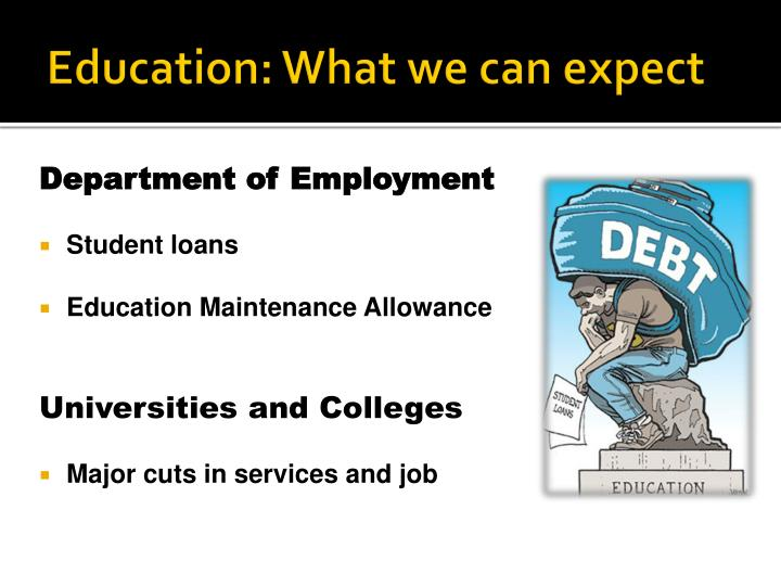 Education: What we can expect
