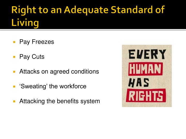 Right to an Adequate Standard of Living