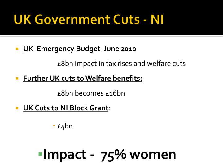 UK Government Cuts - NI