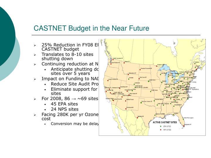 25% Reduction in FY08 EPA CASTNET budget